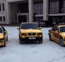 """Золотые"" BMW разъезжают по Караганде"
