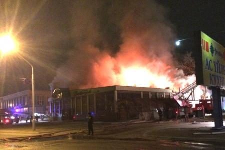 Служба пожаротушения: Пострадавших при пожаре в кафе «Ветерок» нет