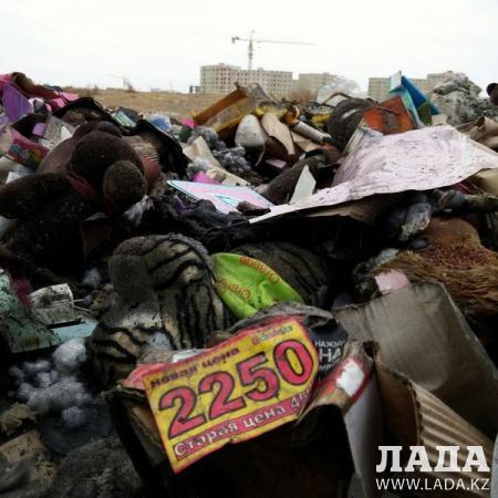 В Актау обнаружена свалка обгоревших детских игрушек