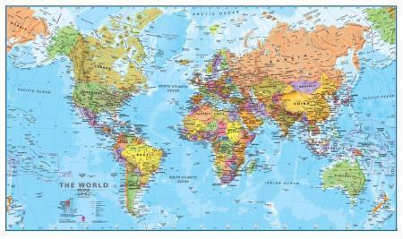 Карты мира—как они выглядят в разных странах