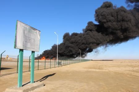В ДЧС Мангистауской области занялись расследованием причин пожара на предприятии ТОО «Эко-Техникс»