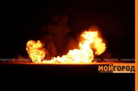 Взрыв на газопроводе произошел в 30 километрах от Уральска