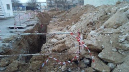 Грубые нарушениях строительных норм РК при прокладке инженерных сетей в 5 микрорайоне