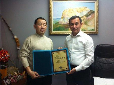 Диплом «Лучшая спортивная организация среди неолимпийских видов спорта» вручен Всеказахстанской организации кекушинкай каратэ