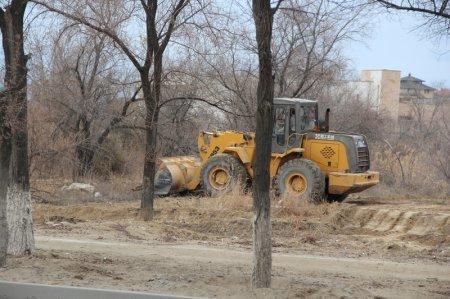 В Актау начались работы по благоустройству парка «Ак Бота»