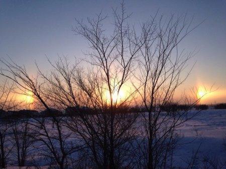 Три солнца наблюдали жители Рудного