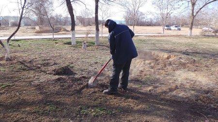Сагынгали Амангельдиев: В апреле в парке «Ак Бота» будет высажено больше тысячи деревьев
