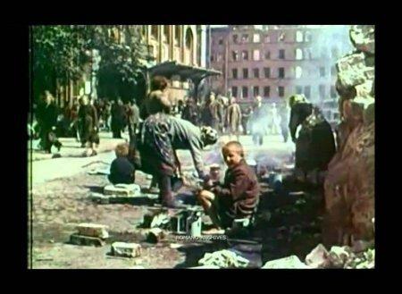 В Германии показали цветное видео из Берлина 1945 года