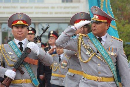 Полицейские Мангистау отметили День защитника Отечества