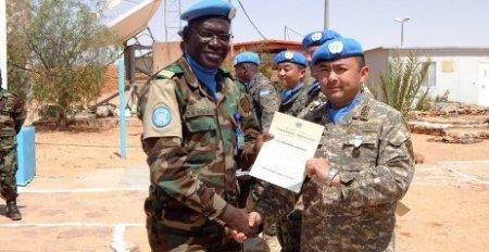 Казахстанские военнослужащие «Казбрига» награждены медалями ООН