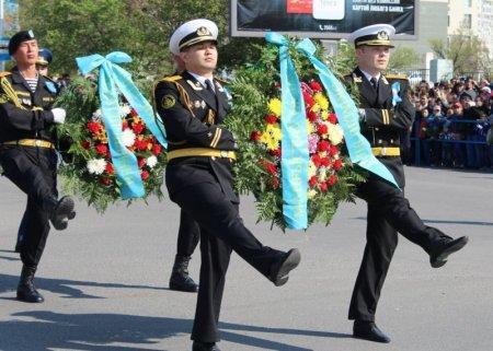 Празднование Дня Победы в Актау