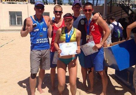 Актауские пляжные волейболисты заняли первые места по итогам I тура чемпионата Казахстана