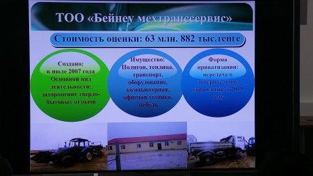 Мангистауским бизнесменам презентовали приватизируемые объекты коммунальной собственности области и АО «НК «СПК «Каспий»