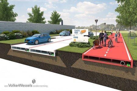 В будущем дороги станут пластиковыми