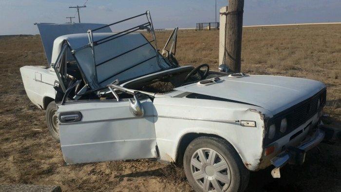 На трассе Актау — Форт-Шевченко перевернулся автомобиль