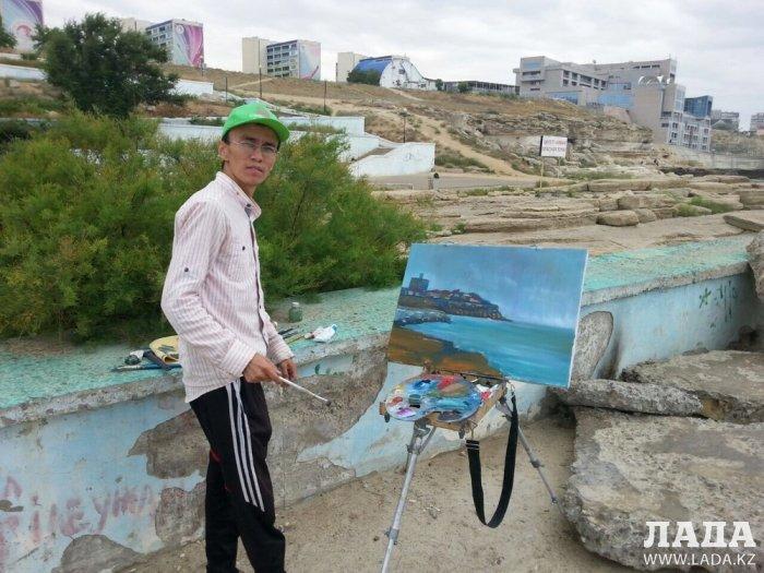 Для молодых художников Мангистау организовали мастер-класс по пейзажу