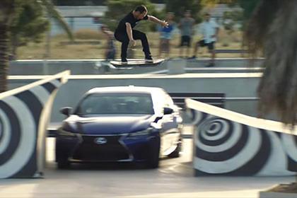 Lexus официально представил видео летающего скейтборда