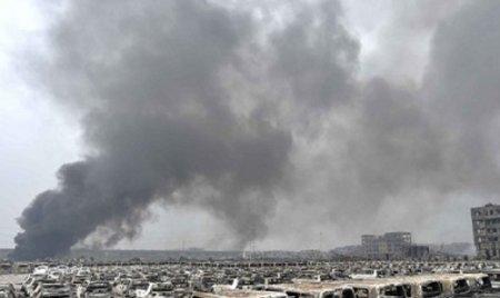 В порту китайского города Тяньцзинь вновь прогремел взрыв