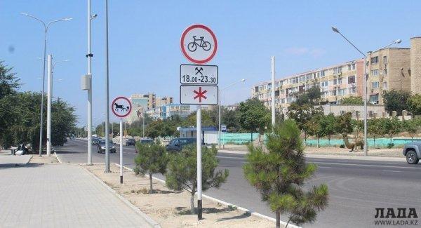 Актауские полицейские начали штрафовать велосипедистов за езду на набережной