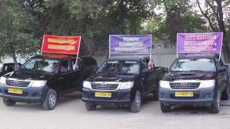В Мангистауской области прошел автопробег «Мы за безопасность дорожного движения»