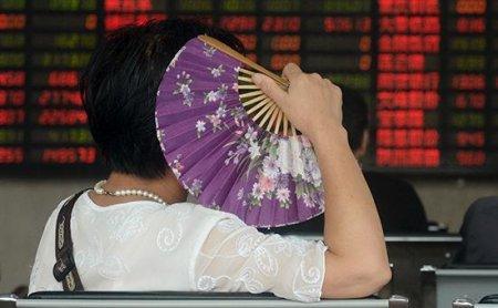 Китайский рынок возобновил падение