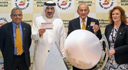 Казахстанец выиграл миллион долларов в лотерее Millennium Millionaire в Дубаи