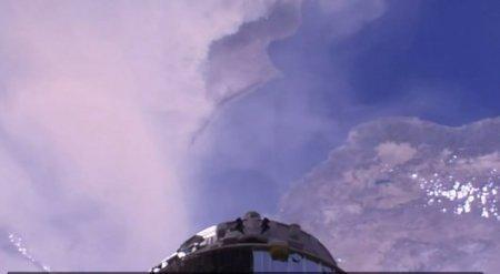 Космонавт Аимбетов опубликовал видео песчаной бури на Ближнем Востоке