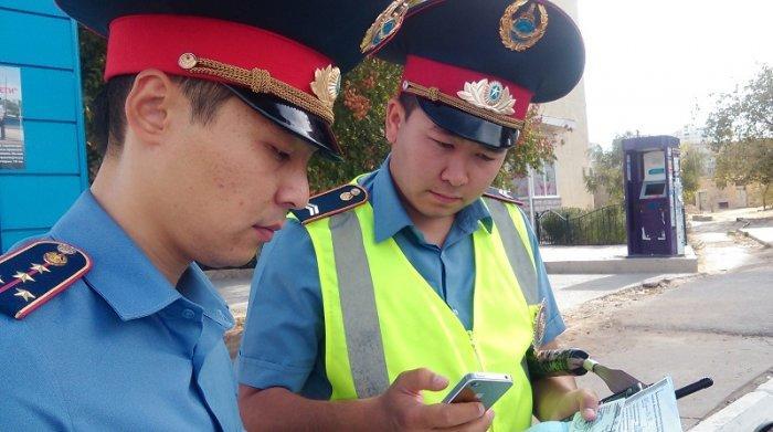 За один день акции «Борышкер» актауские полицейские взыскали штрафы по ПДД на сумму свыше 300 тысяч тенге