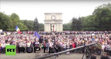 Антиправительственный митинг в Кишинёве - прямая трансляция