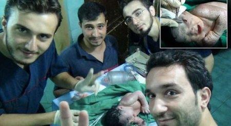 В Сирии родился ребенок с осколком ракеты в голове
