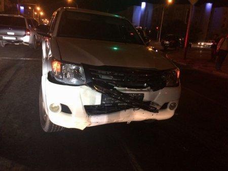 В Актау столкнулись четыре автомобиля