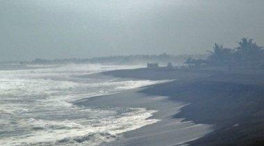 Видео мощного урагана в Мексике