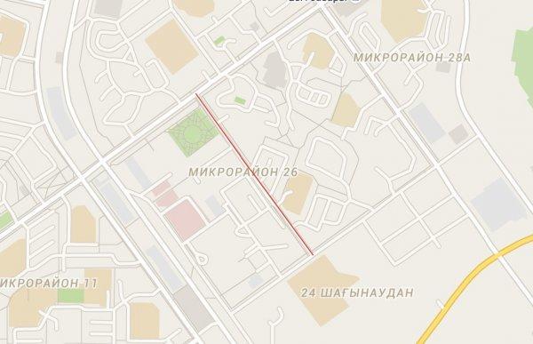 В Актау перекроют дорогу возле 26 микрорайона