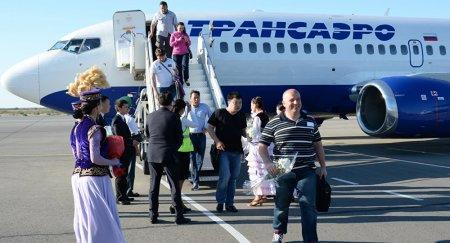 """""""Трансаэро"""" прекратила продажу билетов в Казахстане, рейсы выполняются по плану"""