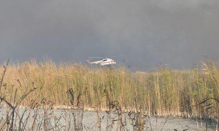 Горение камыша в прибрежной зоне Каспийского моря ликвидировано атыраускими пожарными