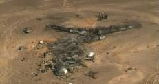 Место крушения Airbus A321 показали с воздуха