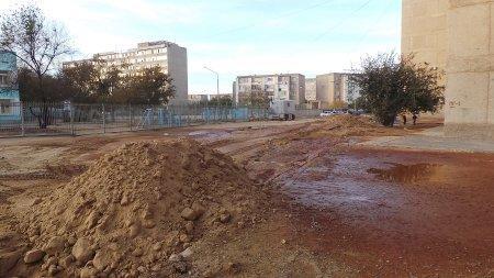 Жители трех домов в 13 микрорайоне Актау жалуются на отсутствие технической воды