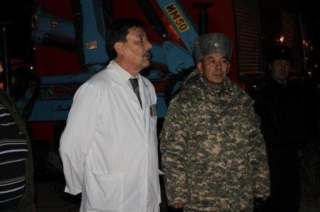 В  больнице Актау прошли пожарно-тактические учения