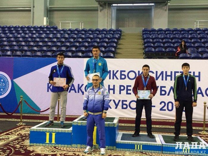 Две золотые и одну серебряную медали завоевали мангистауские кикбоксеры на Кубке Казахстана в Астане