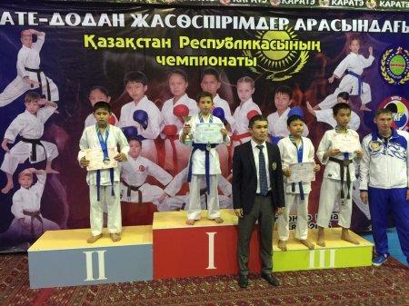 Мангистауские спортсмены стали первыми на чемпионате Казахстана по карате-до