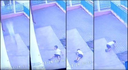 Камера видеонаблюдения сняла падение 4-летнего ребенка из окна детсада в Уральске