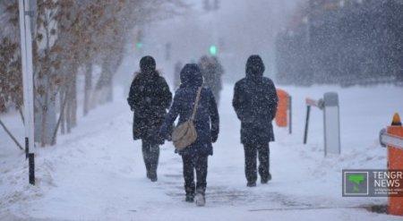 Новый год принесет казахстанцам длительное похолодание