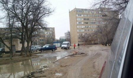 Ремонтные работы дороги в 7 мкр 20, 19, 18 домов