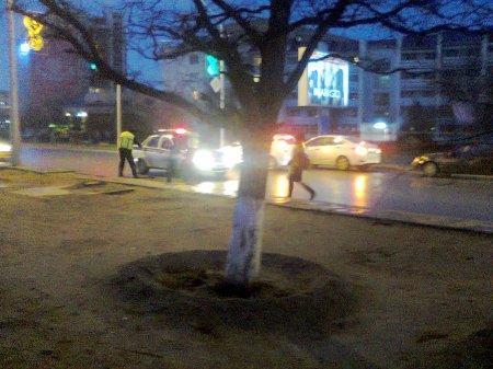 Полицейский автомобиль сбил ребенка