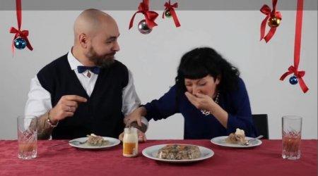 Холодец их шокировал. Итальянцы пробуют русские новогодние блюда