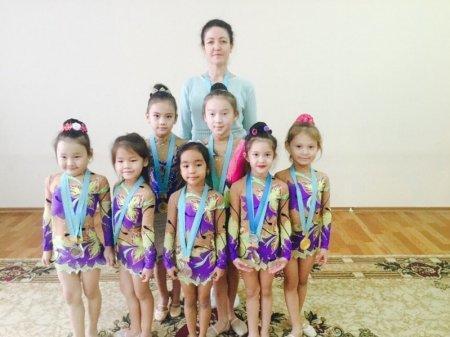 Юные мангистауские гимнастки вернулись с турнира в Кызылорде