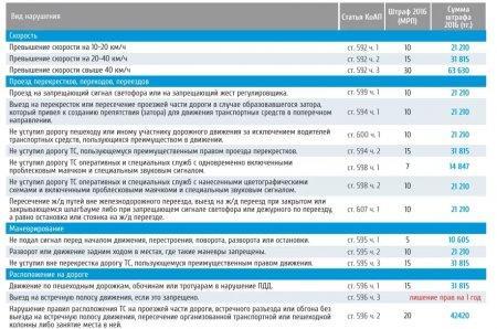 Названы суммы штрафов в Казахстане в 2016 году