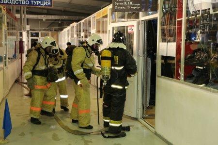 На рынке «Магаш» в Актау прошли пожарно-тактические учения