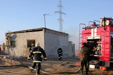 В частном доме в Мангистауской области произошел пожар