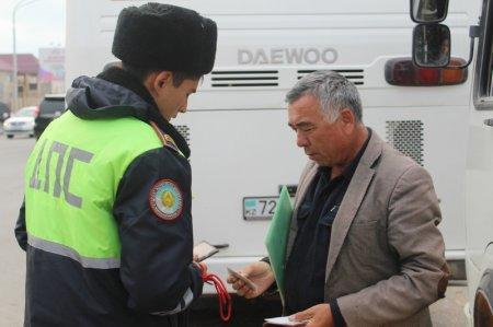 ДПС Актау: Водители маршрутных автобусов ездят без документов и с техническими неисправностями